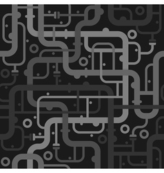 Abstract piping seamless pattern vector image vector image