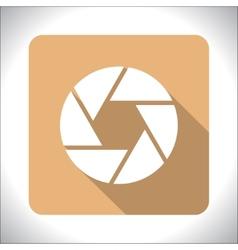 Aperture icon vector