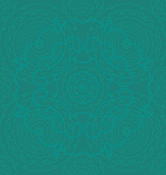 circle pattern green vector image