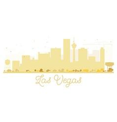 Las vegas city skyline golden silhouette vector