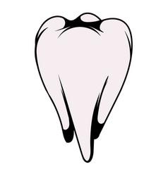 white tooth icon icon cartoon vector image vector image