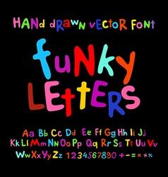 ABC alphabet funky letters children fun colorful vector