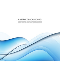 abstract background blue transparent waved lines vector image