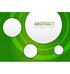 Abstract green background with leaves vector image vector image