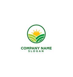 Agriculture farm logo design vector