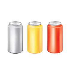 aluminum can set vector image