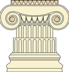 Antique column pillar vector image