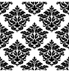 Black foliage endless ornament vector