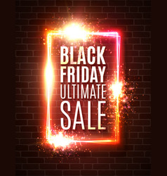 black friday sale background discount banner vector image