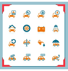 car service icons - in a frame series vector image