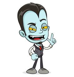 cartoon funny scary vampire boy character vector image