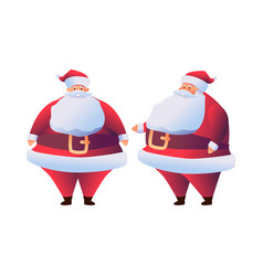cartoon santa claus in red costume flat vector image