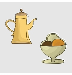 Coffee pot with coffee vector image