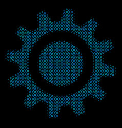 cog collage icon of halftone bubbles vector image