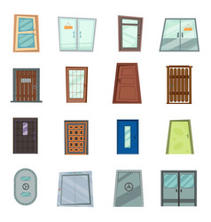 colourful front doors to houses vector image