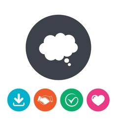 Comic speech bubble sign icon Chat think symbol vector image