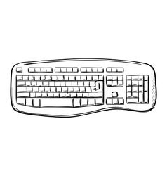 Computer doodle keyboard vector image