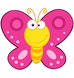 Cute Butterfly Cartoon Mascot Character vector