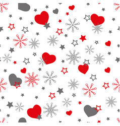 cute winter seamless pattern with vector image