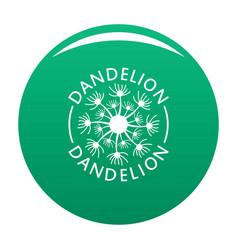 Delicate dandelion logo icon green vector