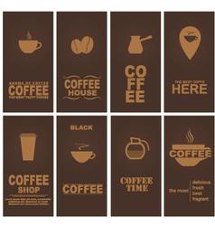 Design coffee 1 vector image