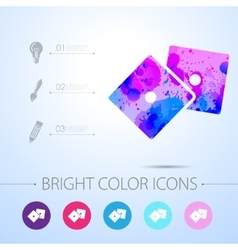Dice icon with infographic elements vector