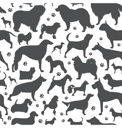 Dog seamless pattern Heatlh care vet nutrition vector image