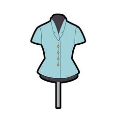 elegant blouse for women in manikin vector image