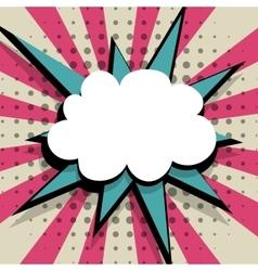 Empty comic speech bubble Pop Art pink blue vector