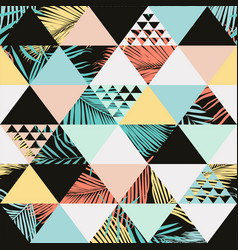 exotic beach trendy seamless pattern vector image