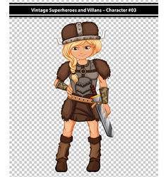 Female viking vector image