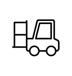 Forklift logistic icon vector