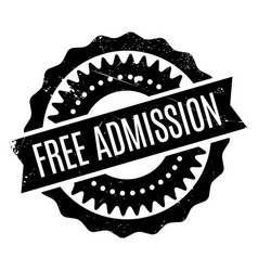 Free admission rubber stamp vector