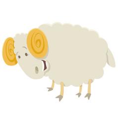 funny ram animal character vector image