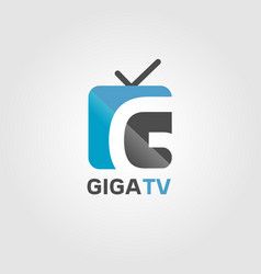 giga internet channel tv logo sign symbol icon vector image