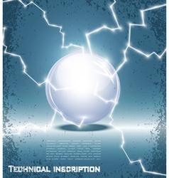 Glass ball and lightning vector