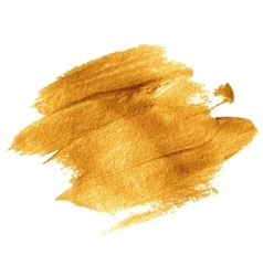 Gold acrylic paint vector
