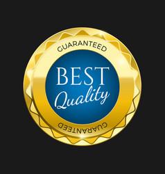 gold premium best price badge bright blue element vector image