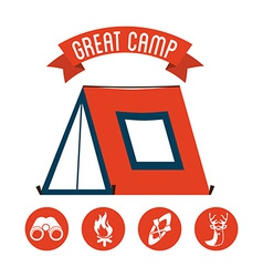 great camp vector image