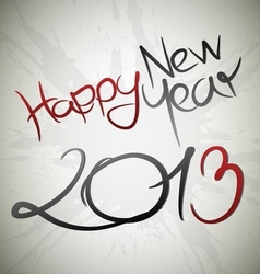Happy new year 2013 card vector