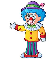 image of cartoon clown 2 vector image