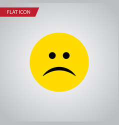 Isolated frown flat icon sad element can vector