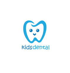 kids dental logo design mascot design vector image