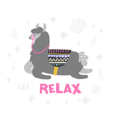 Lama in relax vector