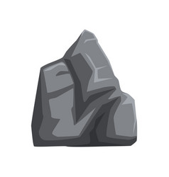 large gray stone with lights and shadows solid vector image