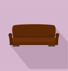 Lawson sofa icon flat style vector