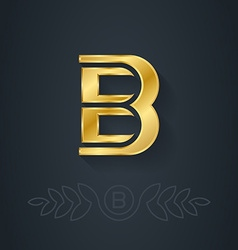 Letter b template for company logo with monogram vector