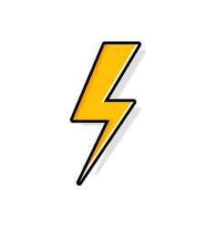 lightning bolt thunder bolt lighting strike vector image