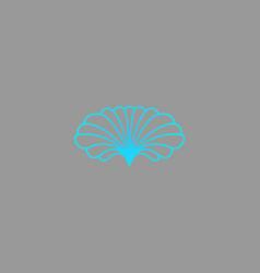 Linear flower shell logo design seafood spa beach vector
