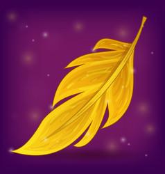 Magic feather in cartoon style vector